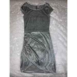 Silver/Grey Mini Party Dress